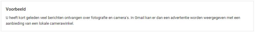 Voorbeeld Gmail advertentie