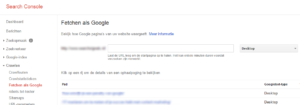Fetchen als Google