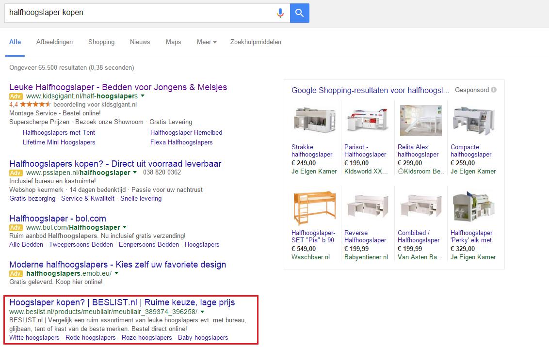 Google-Adwords-update-voorbeeld-organisch-zoekresultaat-2