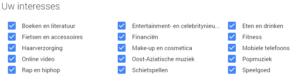 Voorbeeld-Google-interesses