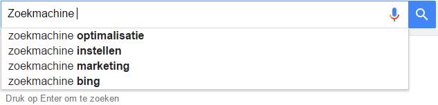 google-suggesties