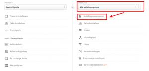 Google Analytics - interne zoekmachine instellen stap 1