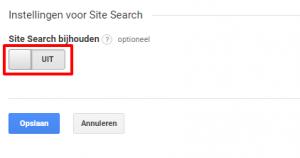 Google Analytics - interne zoekmachine instellen stap 2