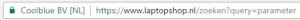 Voorbeeld interne zoekopdrachten bij houden 2