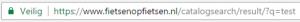 Voorbeeld interne zoekopdrachten bij houden 3