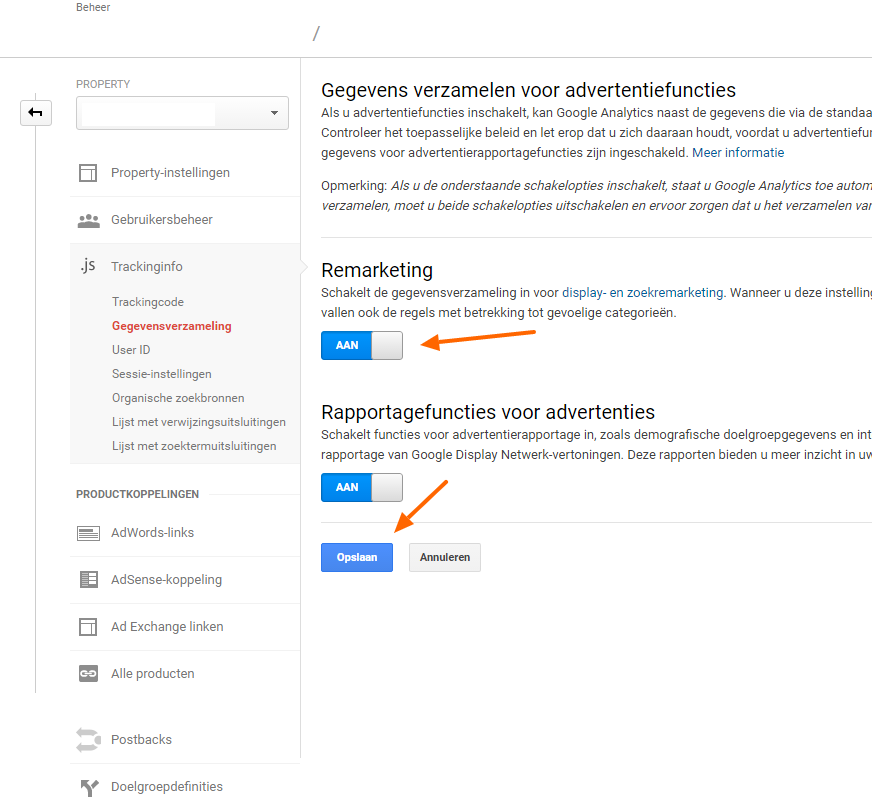 Zo stel je Remarketing Lists for Search ads in - Search Signals