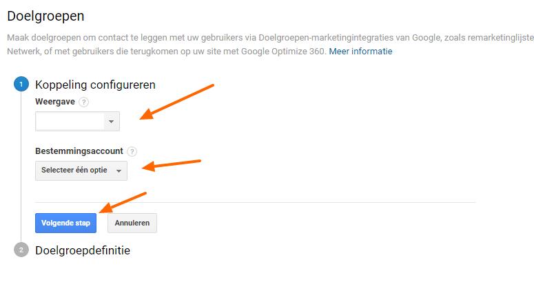 Koppeling configureren Google RLSA