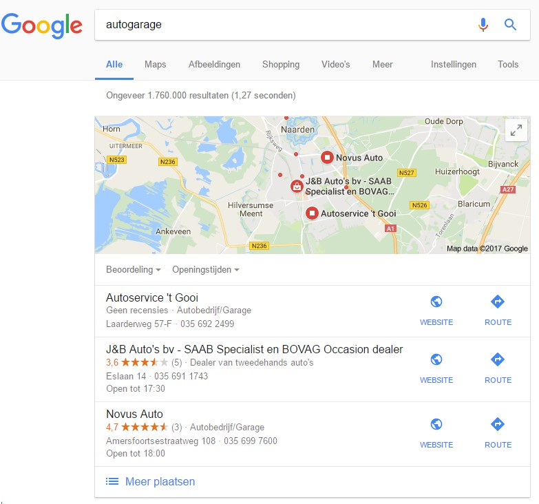Lokale vindbaarheid in Google
