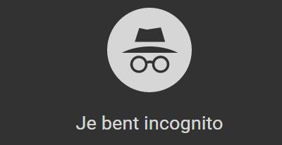 incognito browsen