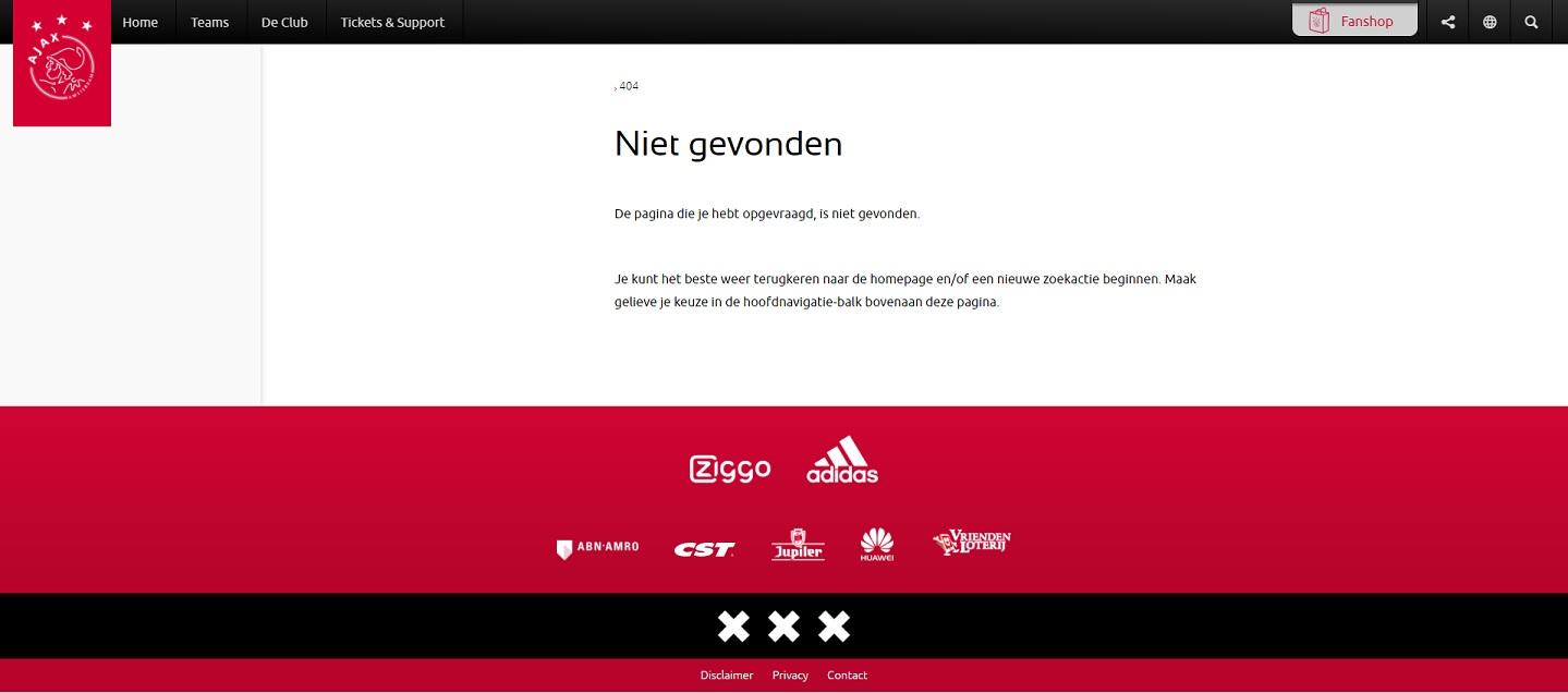 404-pagina AFC Ajax