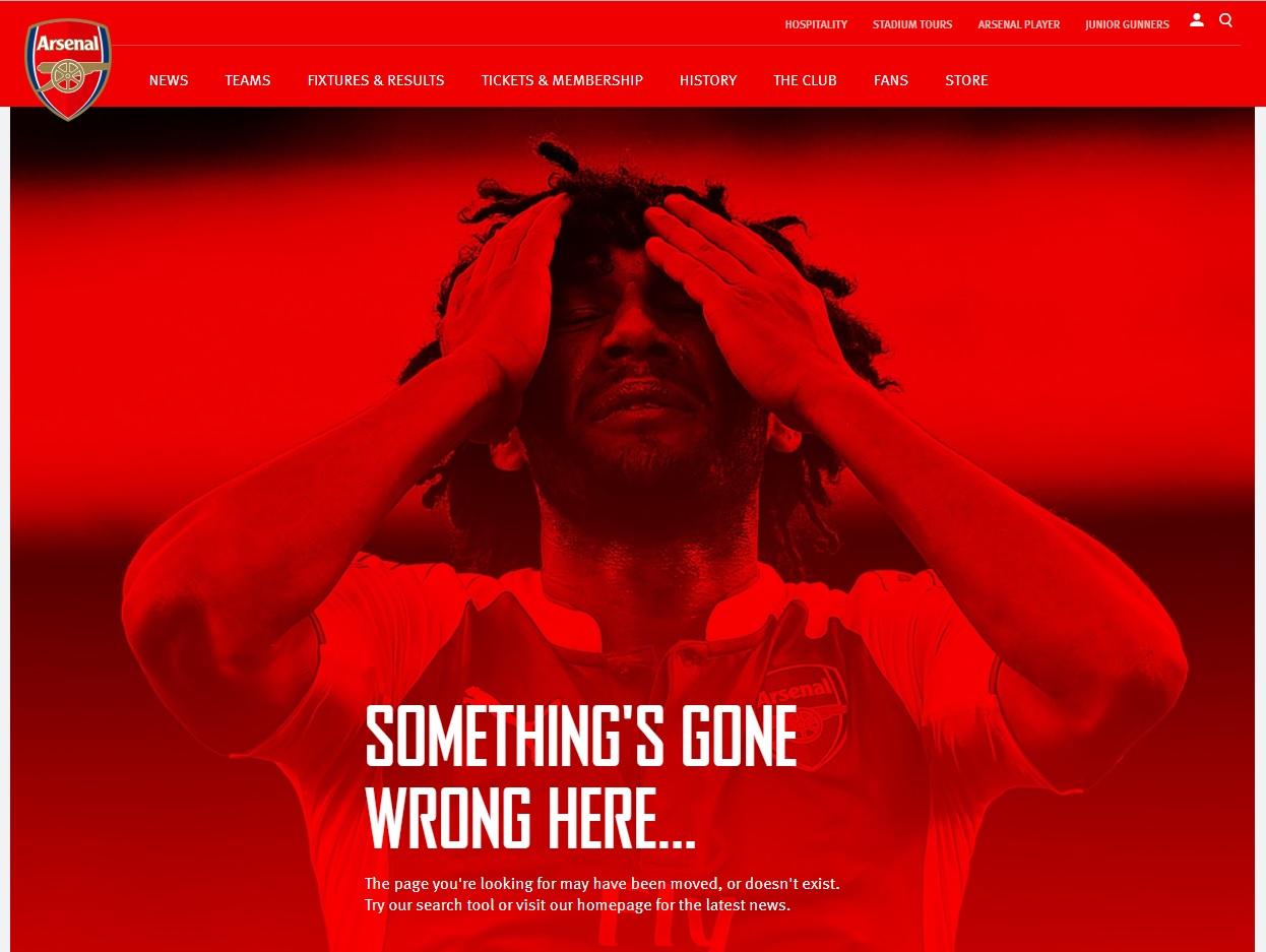 404-pagina Arsenal