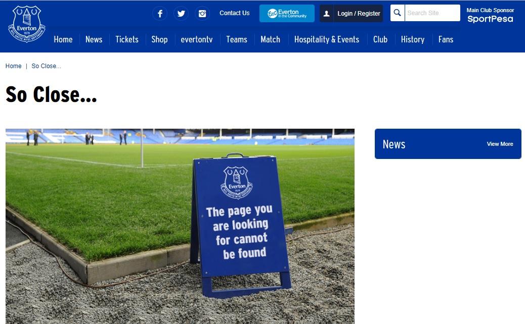 404-pagina Everton