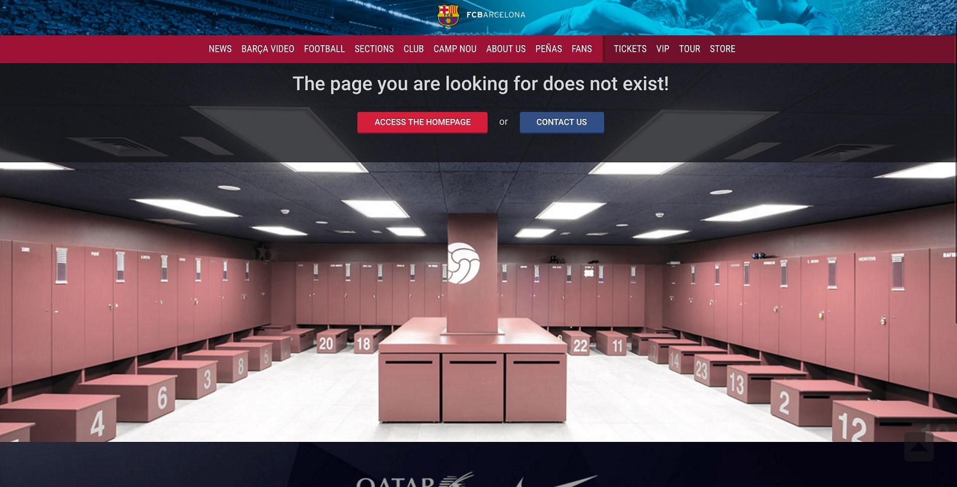 404-pagina FC Barcelona