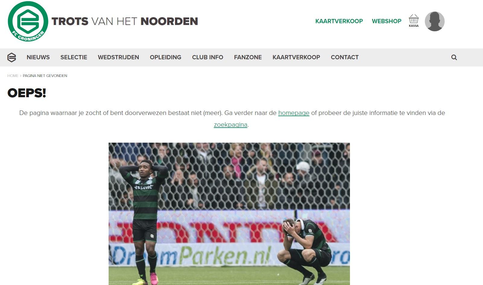 404-pagina FC Groningen