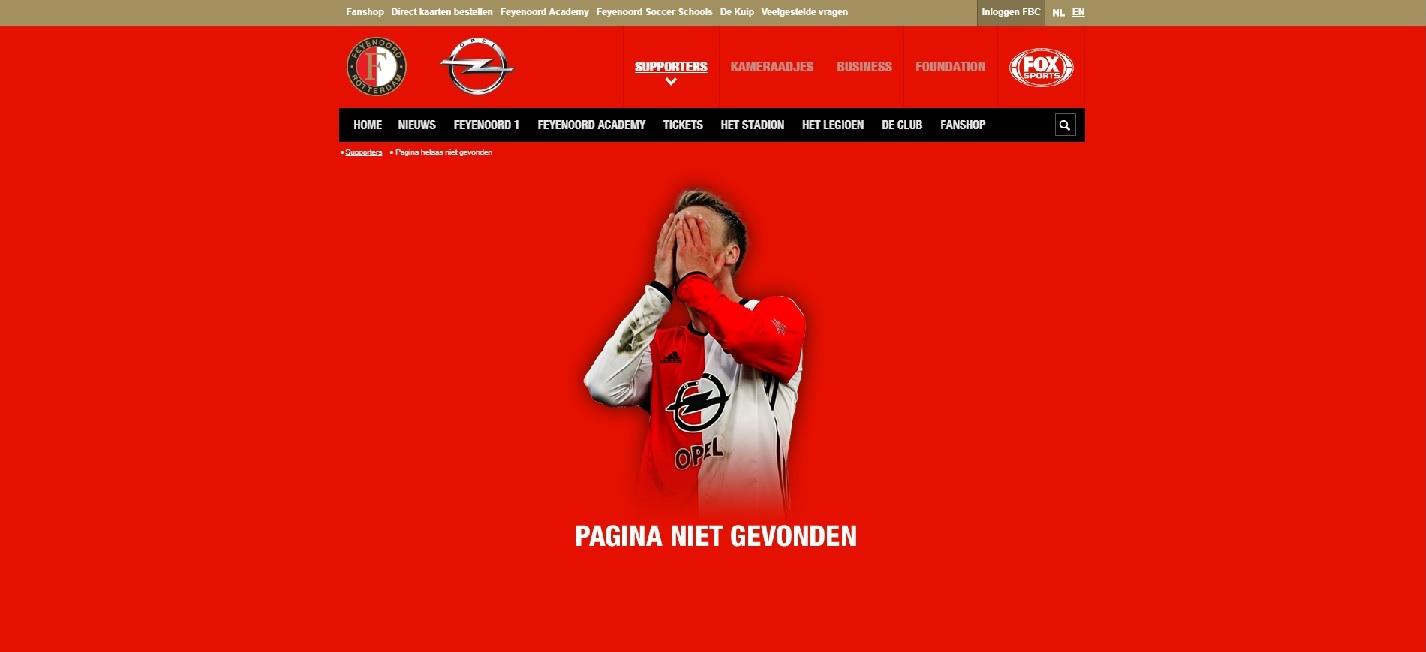404-pagina Feyenoord