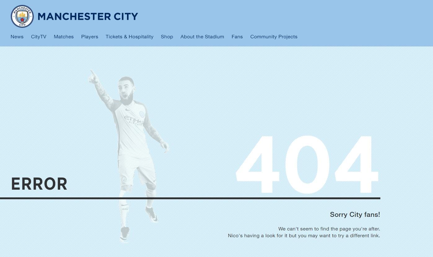 404-pagina Manchester City