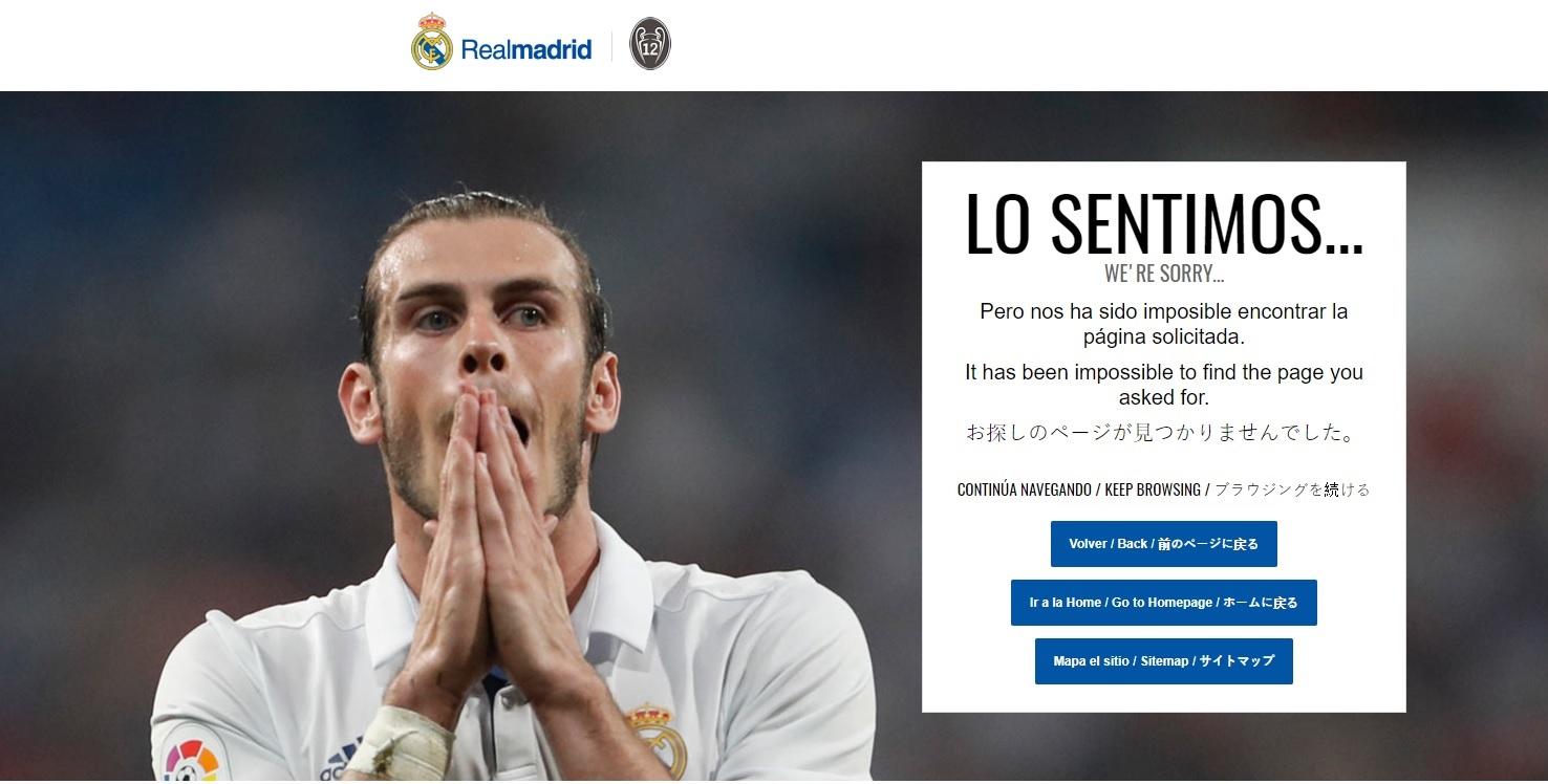 404-pagina Real Madrid Bale