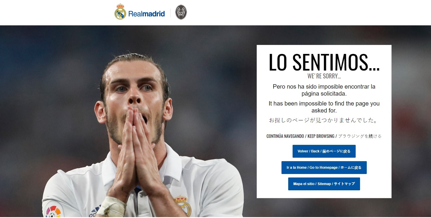 404-pagina Real Madrid Bale