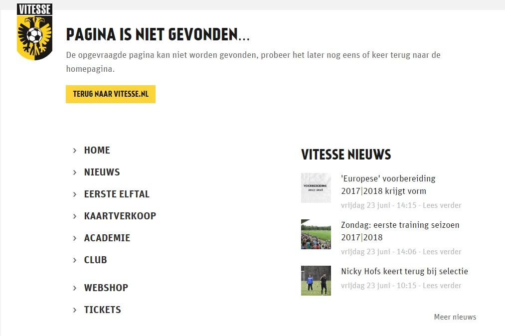 404-pagina Vitesse