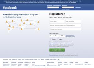 Facebook desktop website