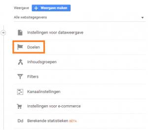 Doelen instellen Google Analytics - doelen 2
