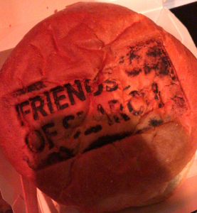 Friends of Search 2018 Branded hamburger
