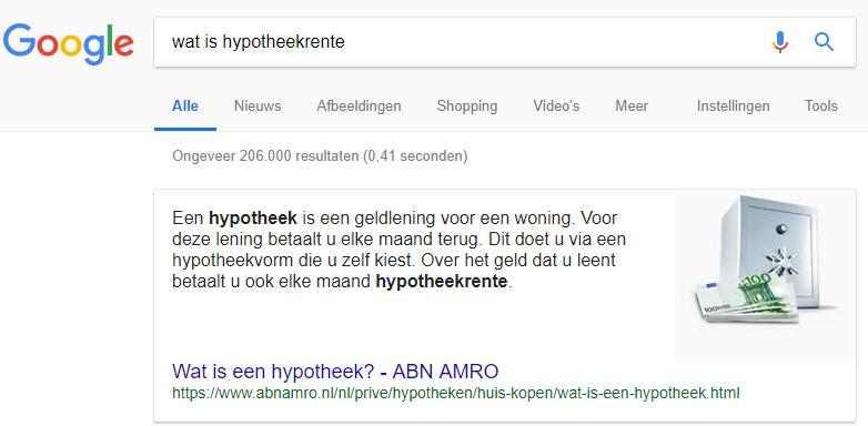 Wat is hypotheekrente voorbeeld zoekresultaten