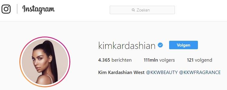 influencer Kim Kardashian