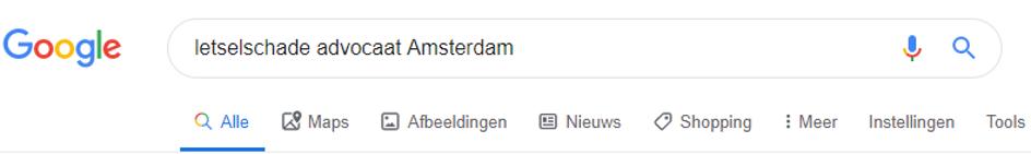 voorbeeld zoekwoord google