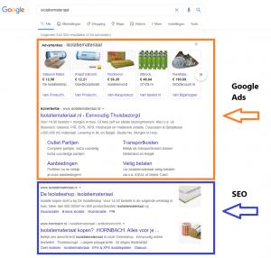 Verschil SEO en Google Ads