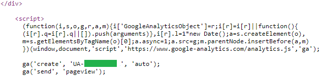 Google analytics trackings code toevoegen