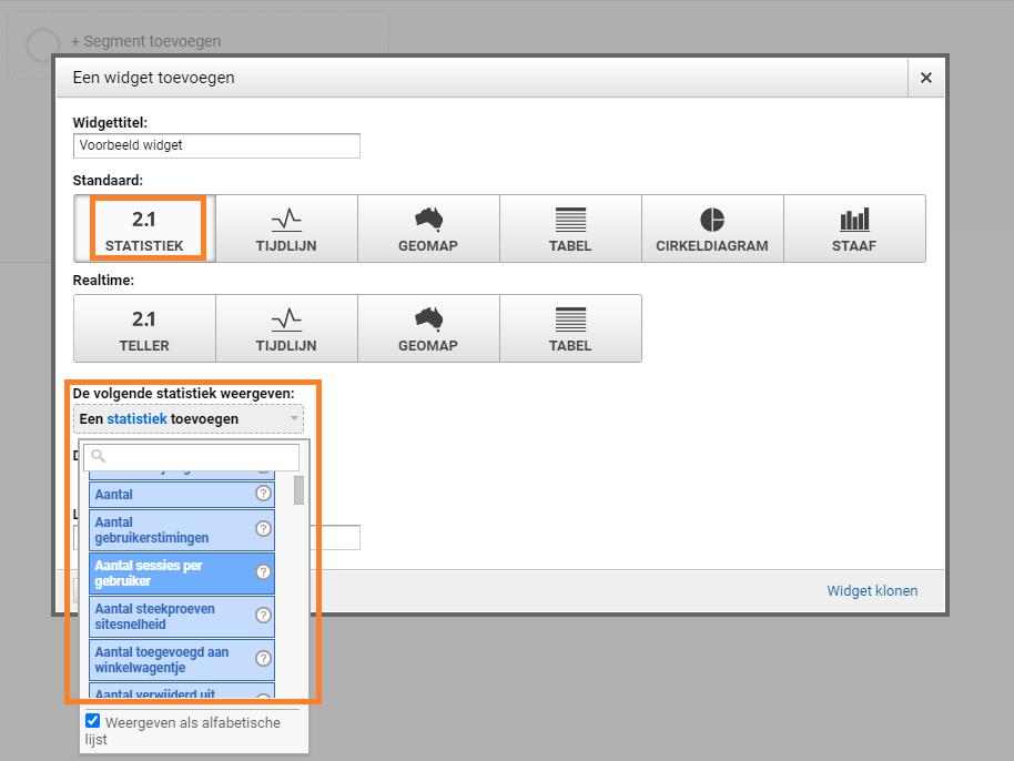 widget-instellen-google-analytics-dashboard